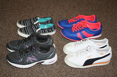 Lot of 4 Pairs of Women's Sneakers, (Puma, New Balance) New & Used Shoes Resale