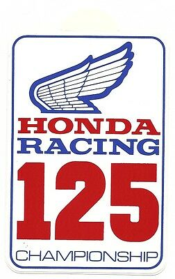 TT Races MotoGP Superbikes Honda 125 Racing Genuine Period Unused Sticker