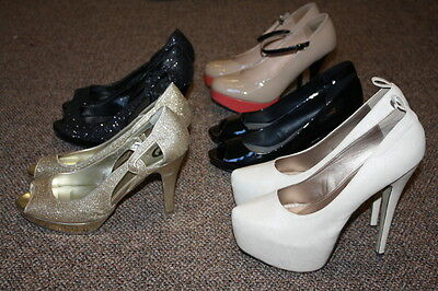 Lot of 5 Pairs of Women's Stiletto High Heels Sz 11 Used Shoes Resale Guess Red