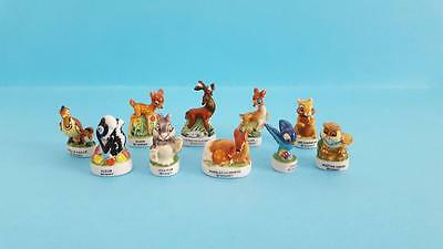 RETIRED MINIATURE PORCELAIN FIGURINES, BAMBI & FRIENDS COLLECTION SET,Flower,Owl