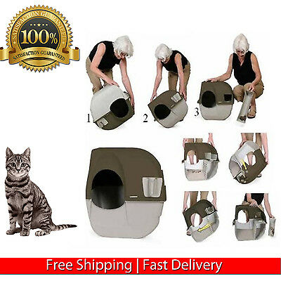 Omega Paw Self Cleaning Litter Box Cat Large Home New Automatic Waste Separator