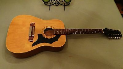 Vintage Hohner Contessa 12 String Acoustic Guitar Made In Germany LOOK!!!!