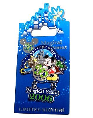 LE Disney Pin✿Tinker Bell Tink Mickey Mouse Castle Magical Years Milestones 2006