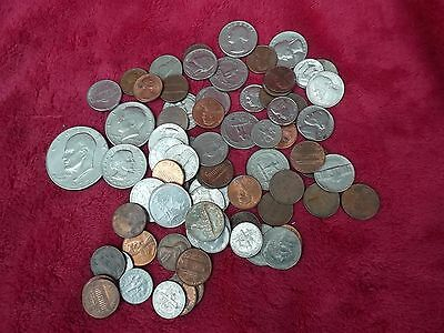 A Bulk Joblot Of Usa Base Metal Coins $7.76 In Holiday Change Dollar-Cent Below