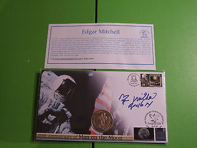 Buckingham Coin Cover Apollo 14 Signed Edgar Mitchell Ltd Ed Of 200 Only