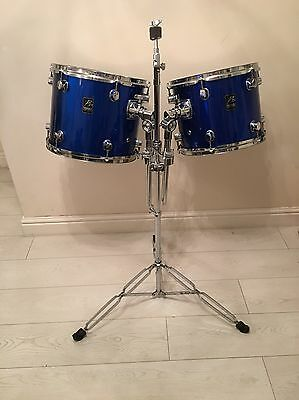 Pair Of Toms Plus Tom And Cymbal Stand In 2 Colour Choices For Drum Kit