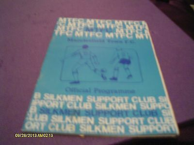 Macclesfield Town V York City Fa Cup Programme 1983