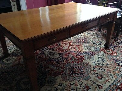 Stunning Antique Dining Table Solid Oak Edwardian Arts & Crafts Kitchen Rustic