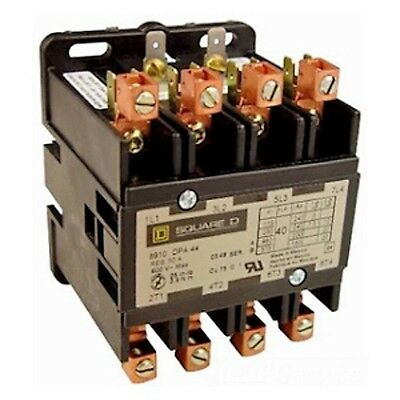 SQUARE D 120VAC Open Contactor, 40 Full Load Amps-Inductive, 4 Number of Poles