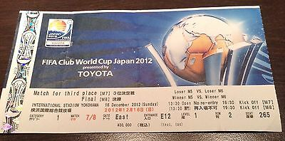 **CLUB WORLD CUP JAPAN 2012 USED COLLECTOR TICKETS FINAL Chelsea Corinthians