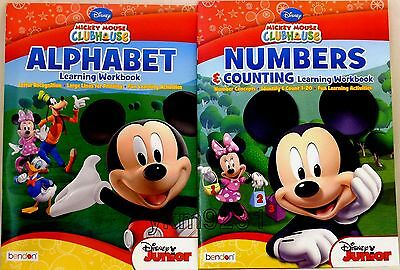 Disney Mickey Mouse Clubhouse Alphabet + Numbers Counting Learning Workbook PreK