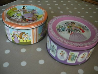 Vintage Quality Street Chocolate Tins. Set of 2. 1960s /1970s