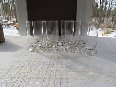 "8 - IMPERIAL GLASS CANDLEWICK Pattern 4"" JUICE GLASSES TUMBLERS 400/19"