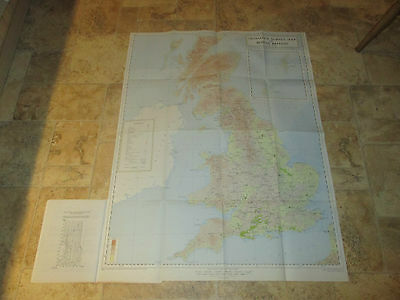 """Large Map of Roman Britain Ordnance Survey History Roads Towns 16 miles to 1"""""""