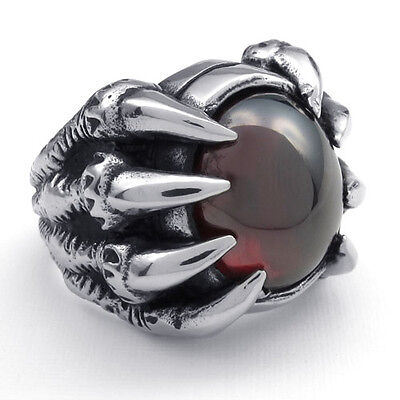 Super Cool Gothic Heavy Duty Stainless Steel Dragon Claw Ring
