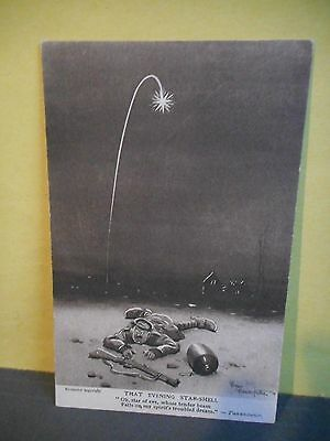 WWI Postcard,''Bystanders''Fragments from France,Series2,That Evening Star-shell