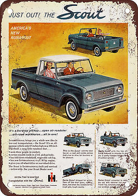 """1961 International Scout 10"""" x 7"""" Reproduction Metal Sign 2"""