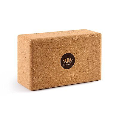 Cork Yoga Exercise Block High Performance Soft Non Slip Small Grained Natural