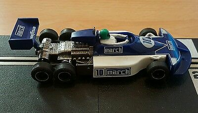 Scalextric Car C129 771 Blue March Ford No. 10 Six Wheeler