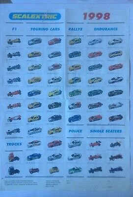 Scalextric 1998 Poster Catalogue. Good Condition
