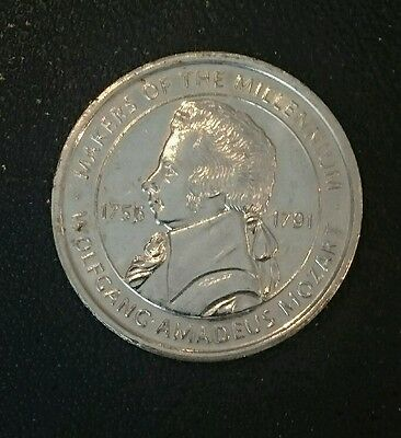2000 Makers of the Millennium Coin, Wolfgang Mozart, Collectable,House Clearance