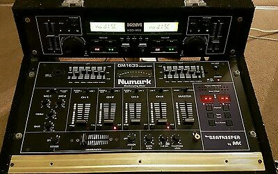 Numark DM1635 Mixer and KAM KCD-950 CD player in flight case for pro DJ.