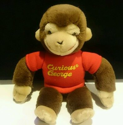Vintage Gund Curious George Monkey Plush Red Shirt 1992 Stuffed Toy