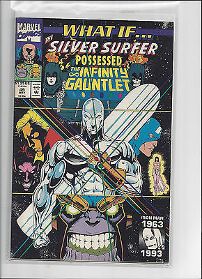 Marvel Comics What If #49 Silver Surfer Possessed Infinity Guantlet VF/NM