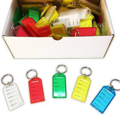 Automotive Dealer Key Tags | Snap, Multi Color, 100p | EZ391 Ships Free Quick