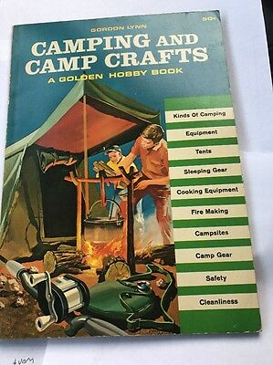 Camping And Camp Crafts, 1964 Edition, Golden Hobby Book