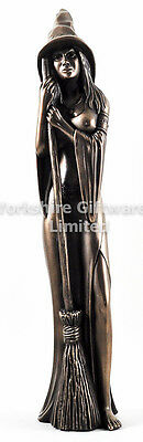 45cm Large WITCH Statue Cold Cast Bronze Sculpture by Design Clinic NEW 16081