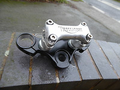 Triumph Bonneville T100 2005 Top Yoke Including Risers & Handlebar Clamp