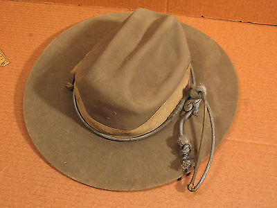 Spanish-American War Era  Campaign Hat Stetson Named & Dated 138 Field Atrillery