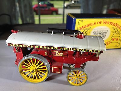 matchbox yesteryears y9a14 fowler showmans engine