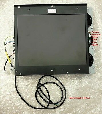 """CCTV Monitor Electronic Panel with Sharp LQ150X1LW71N LCD 15"""" Tested and Clean"""