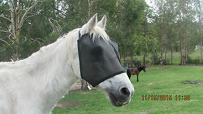 NEW HORSES BLACK FLY MASKS HIGH VISABILITY(Small,Medium or Large)