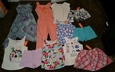 NWT Size 7/8 Lot of Gymboree Summer CLOTHES Outfits Girls