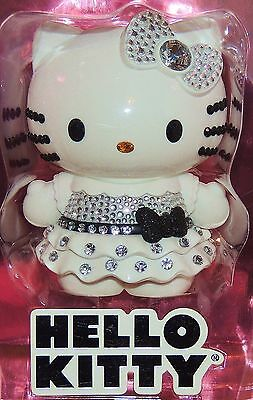 "HELLO KITTY Limited Edition Collectible 4"" Doll with Rhinestones Black & White"