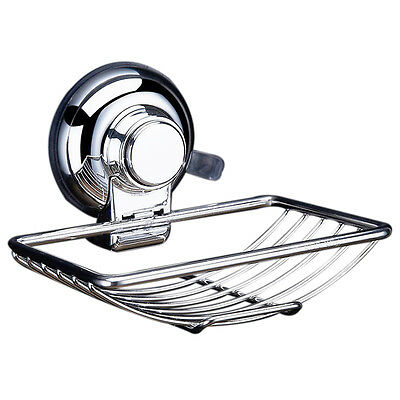 Stainless Steel Soap Dishes Suction Cup Hook Holder Soap Bath ED
