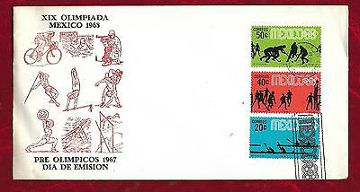 1967 Pre - Olympic Games Mexico postal cover