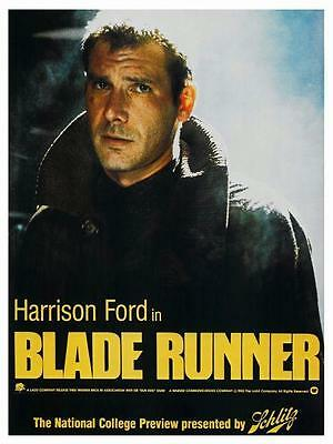 Blade Runner POSTER *MUST SEE* Harrison Ford Stanley Kubrick Sci Fi CLASSIC