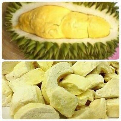 New Dried Freeze Durian Monthong 100% Siam Snack King of Fruit Tropical 50g.
