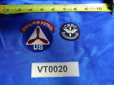 LOT of Civil Air Patrol CAP State Patches (Qty 2) Encampment VT0020