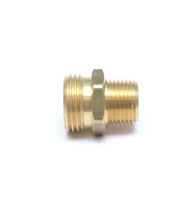 "1/2"" Male NPT Pipe to 3/4"" Male Garden Hose GHT Thread Adapter FasParts Water"