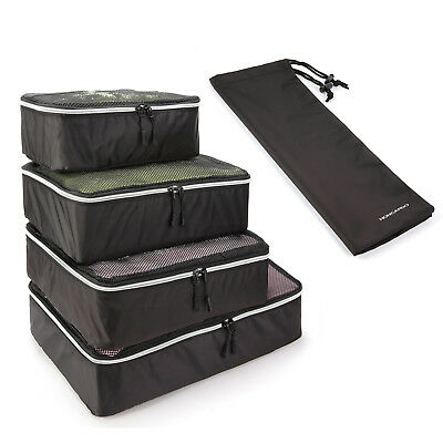 5PCS Set Travel Luggage Organizer Packing Cube StoragePouch Shoe Bag WaterResist