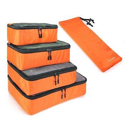 5pcs Travel Luggage Organizer Packing Cube Storage Pouch Shoe Bag WaterResist