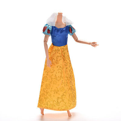 """New 1 Pc Party Grown Doll's Dress For Snow White Barbies 11"""" Dolls Nice xah"""