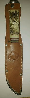 BUFFALO BRAND RUKO SOLINGEN~GERMAN STAG HUNTING KNIFE w/original  SHEATH 1960era