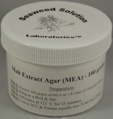 Malt Extract Agar (MEA) 100 grams - Great For Growing Mushrooms! - FREE SHIPPING