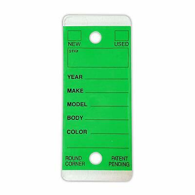 Green Car Dealer Key Tags | Self Laminating, Green, Round Corner | EZ407 250p